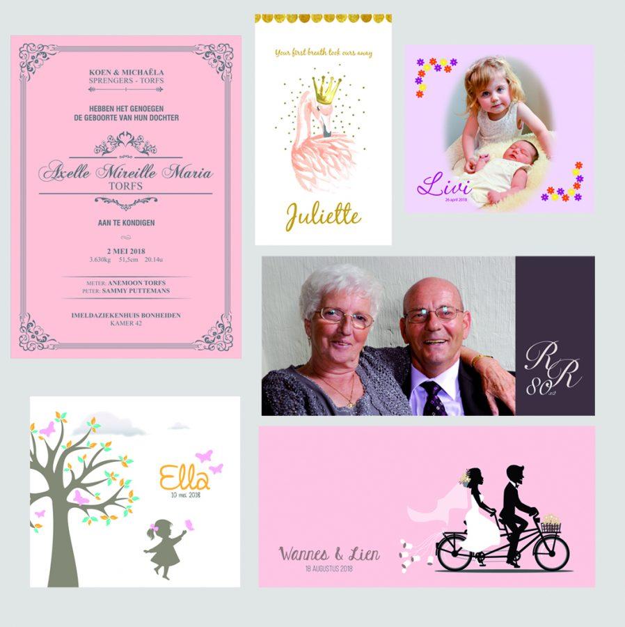 geboorte huwelijk communie jubileum
